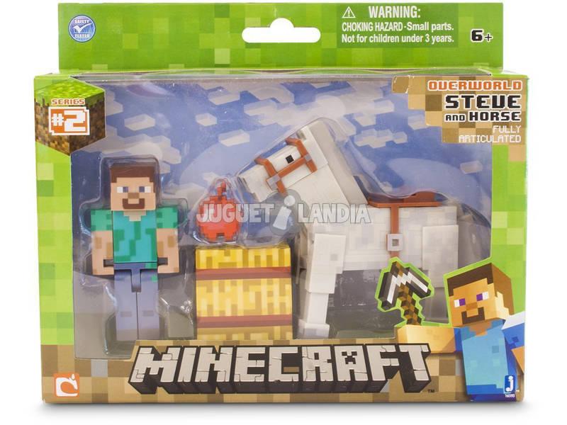 Minecraft Steve con Caballo