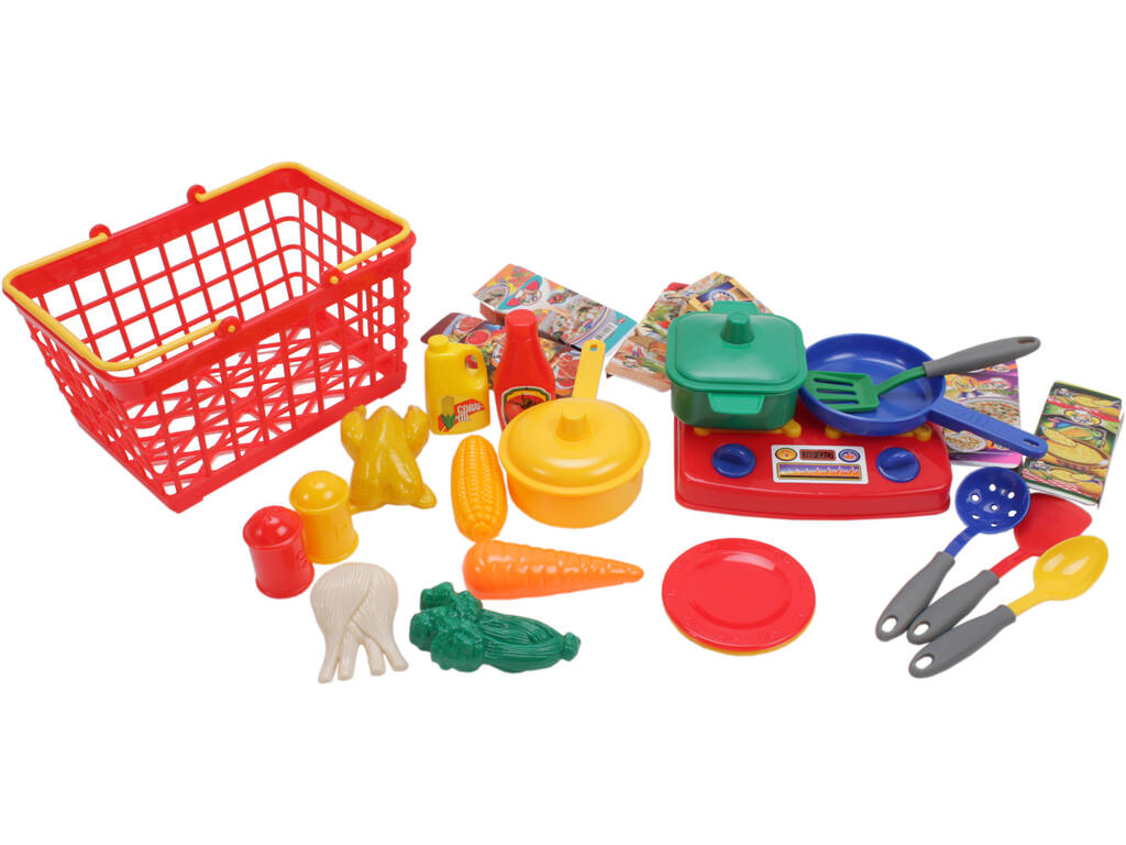 Cesta set cocina de 28 piezas