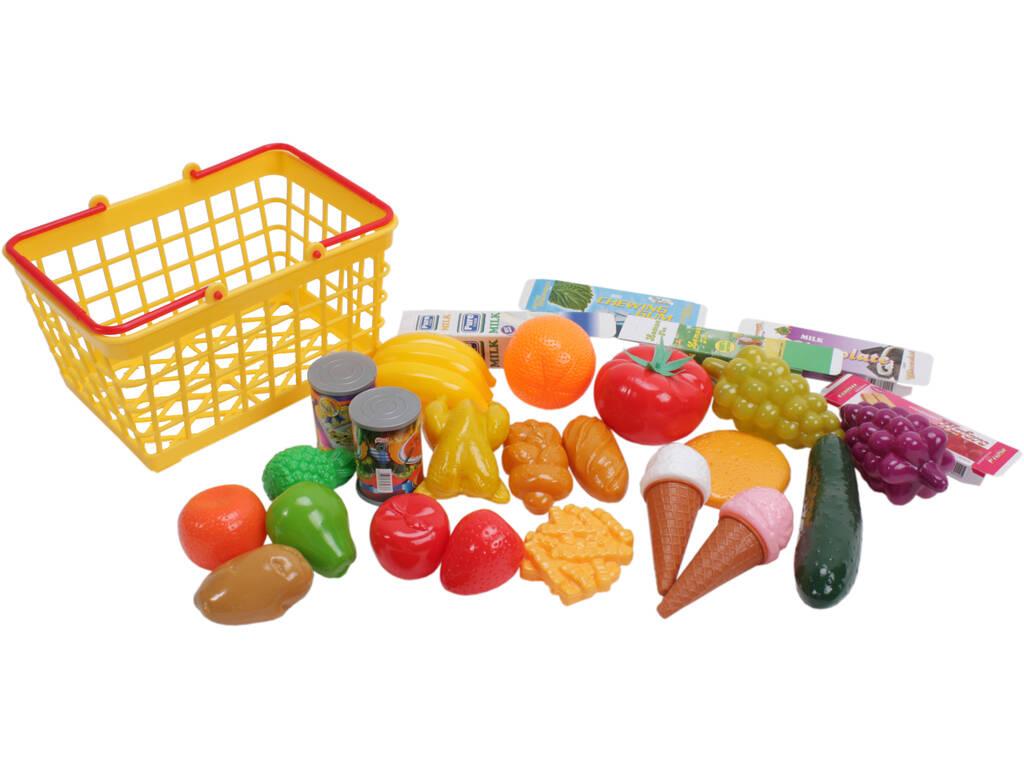 Cesta set comida de 28 piezas