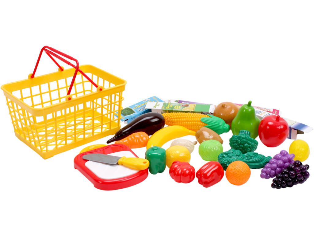 Cesta set frutas de 28 piezas
