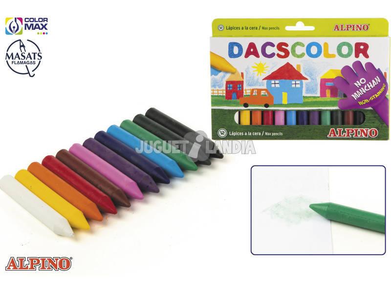 Astuccio 12 pastelli a cera Dacscolor