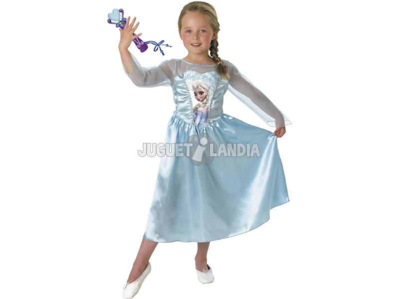 Disfarce de Menina Elsa Classic Com Micro T-M Rubies 620284-M