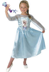 Costume Bimba Elsa Classic con Microfono M Rubies 620284-M