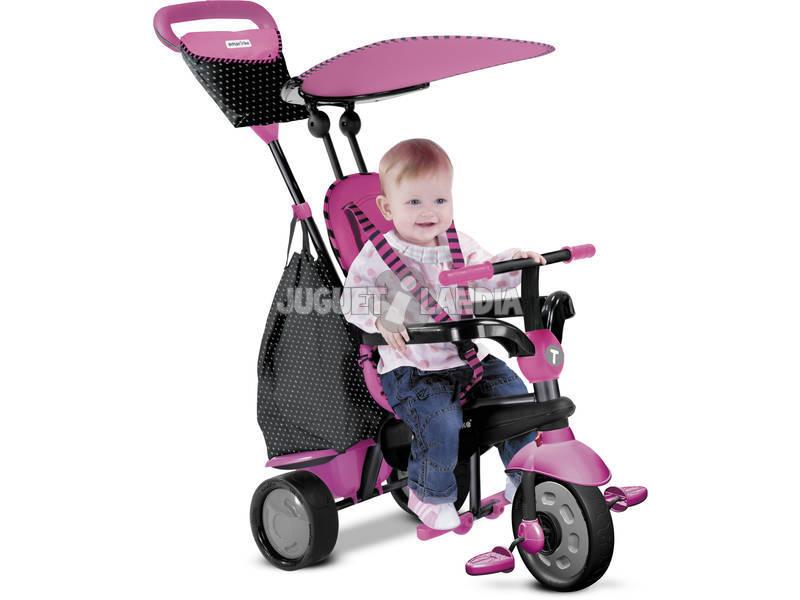 Carrinho Smart Trike Glow 4 em 1 Cor-de-Rosa