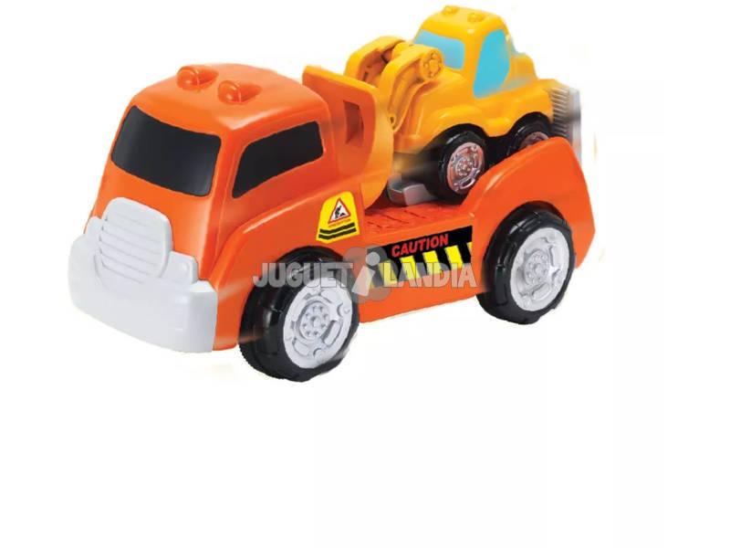 Camião com Mini Escavadora