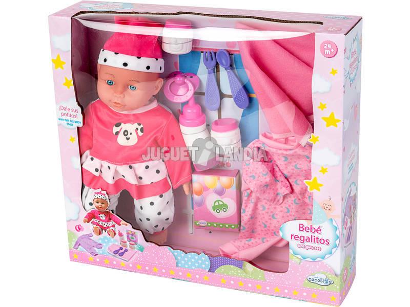 Muñeco Bebé Regalitos con Accesorios