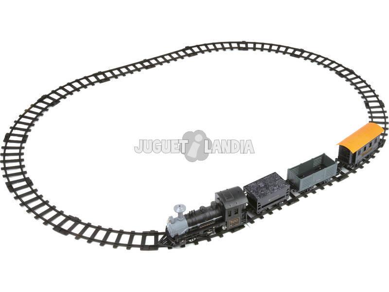 Comboio Western com Locomotiva, 3 Vagões e Vias