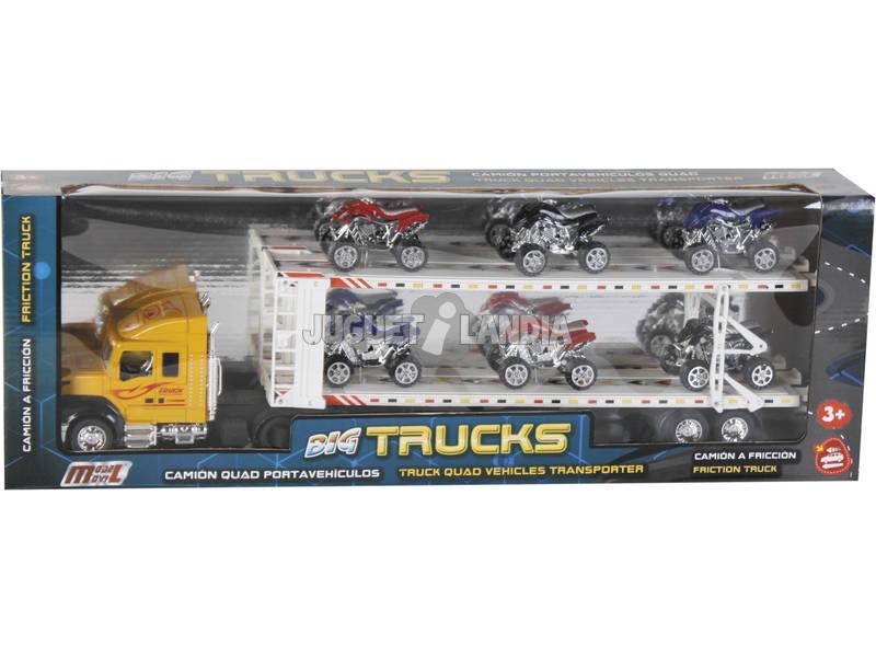 Vehículo Camión Surtido Portaquad Con 6 Quad 57x7x15cm