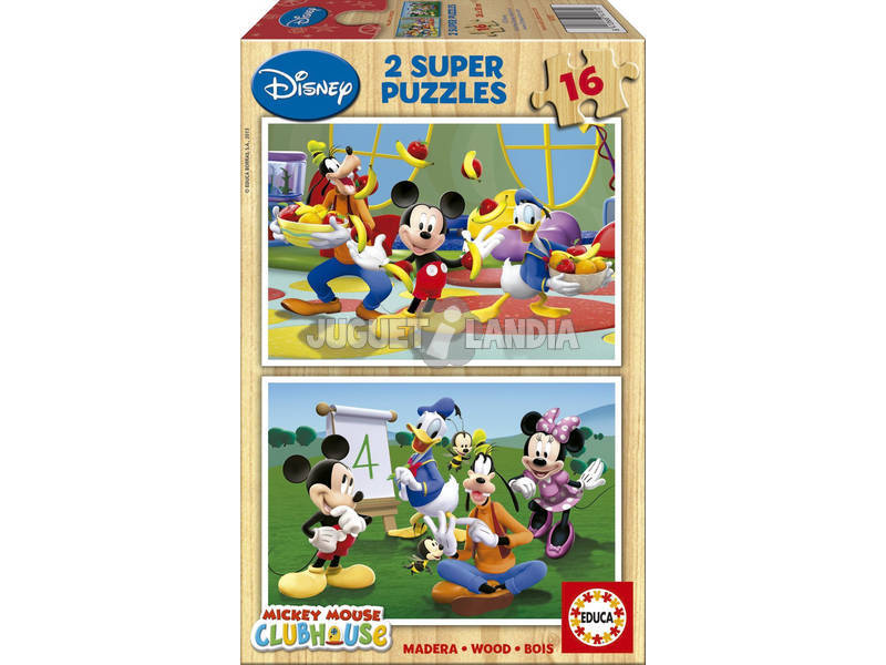 Puzzle 2x16 Mickey Mouse Club House Educa 14181