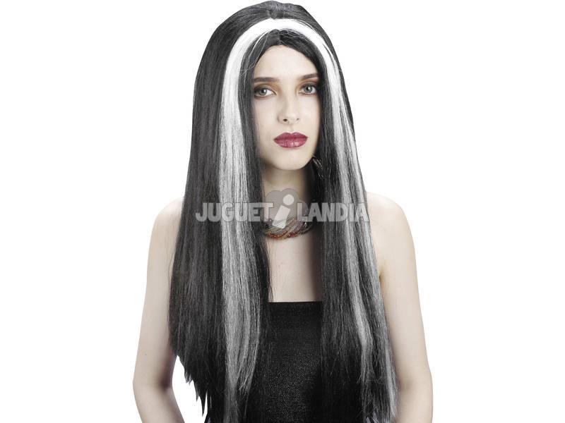 Peluca Vampiresa Negra y Blanca