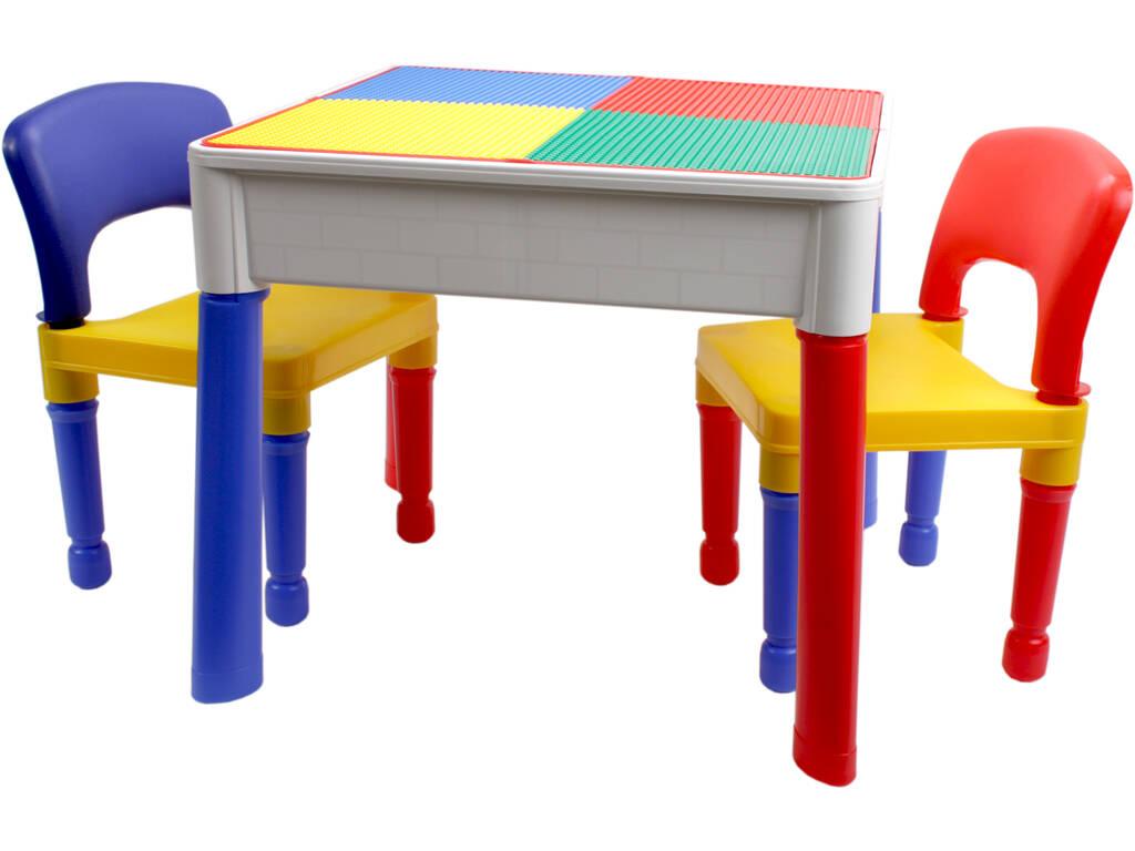 Mesa 3 en 1 con 2 sillas - Juguetilandia