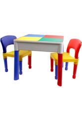 Tavolo 3 in 1 con 2 sedie
