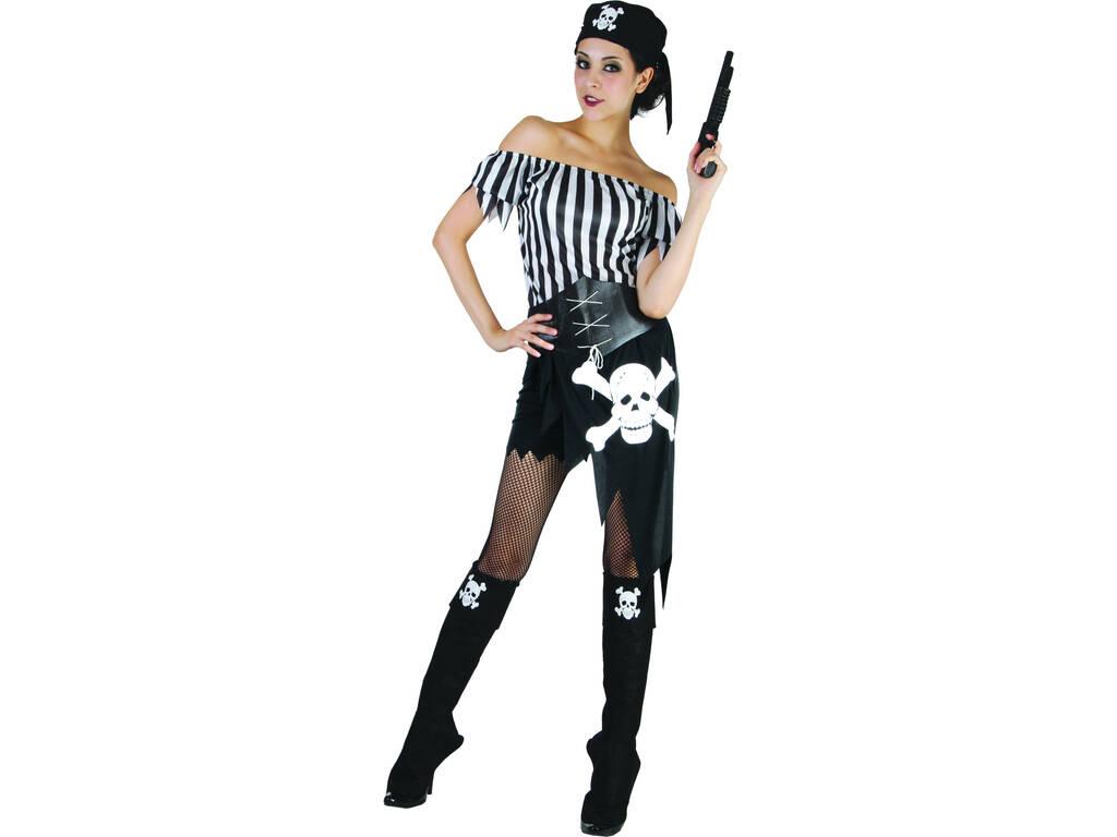 Déguisement Boucanier Tête de Mort Femme Taille XL