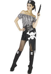 Kostüm Totenkopfseeräuber Frau Größe XL