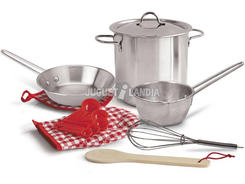 Set 13 Pzas Cacerolas De Cocina de Juguete En Red