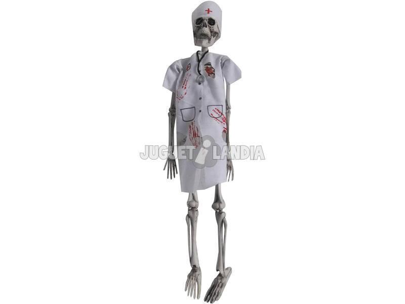 Scheletro 50 cm. infermiera con luce