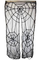 Cortina tela de araña negra
