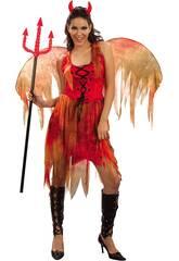 Disfraz Demonia Hada Mujer Talla L