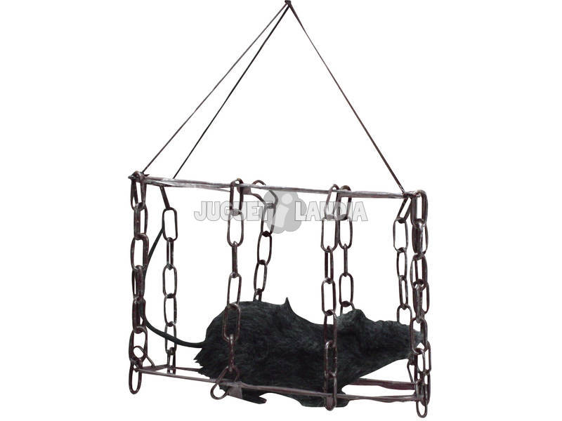 Rato peludo com jaula