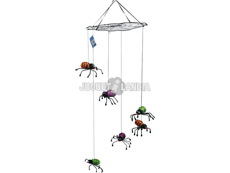 Tela Araña Colgante Con Arañas