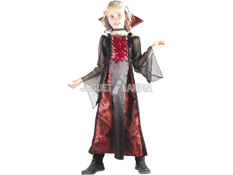 Fantasia Vampira Vermelha Menina Tamanho S