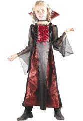Disfraz Vampira Rojo Niña Talla M
