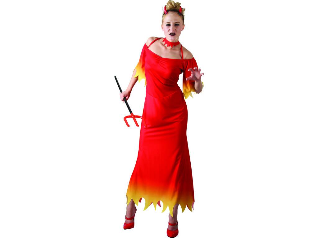Déguisement démon femme robe longue taille L