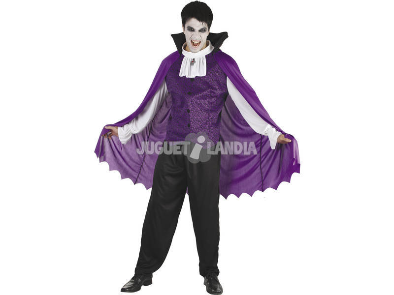 Fantasia Vampiro Roxo Homem Tamanho XL
