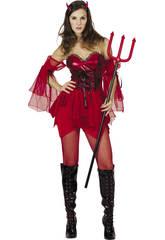 Costume Rosso Donna L Diavolessa