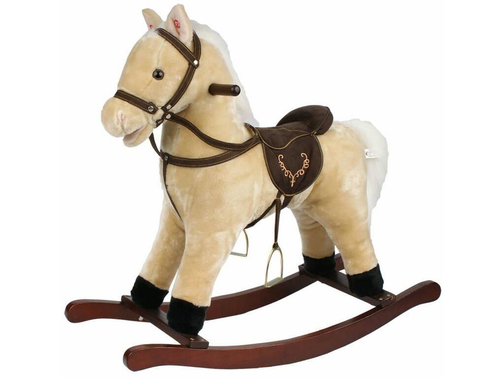 Cavallo a Dondolo Beige Con Suoni 46 Cm