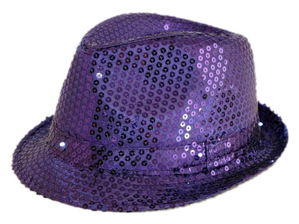 Cappello Gangster Porpora Con Luce