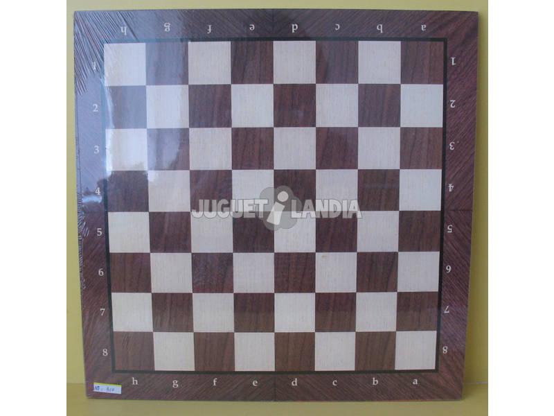 TABLERO AJEDREZ MADERA 40X40X0.8 cm.