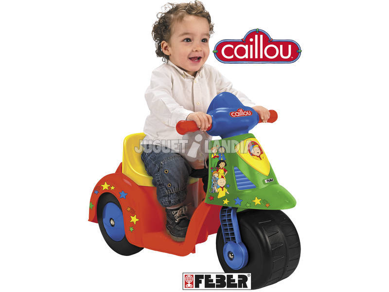 Scooty red and green 6v Caillou