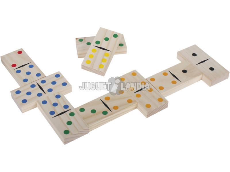 Domino madera con piezas grandes