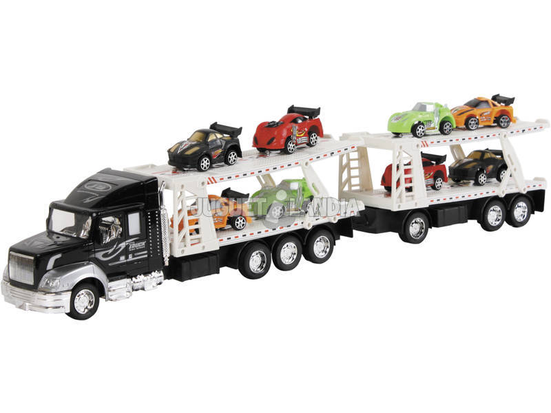Camion Portacoches con Remolque y 8 Coches