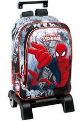 Mochila con Carro Spiderman Dark