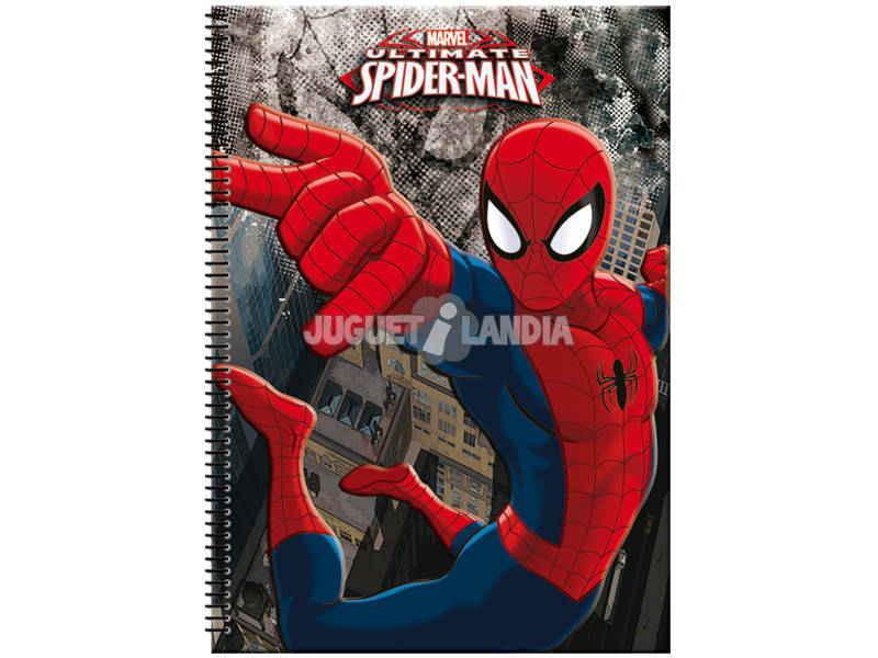 Block A4 80 folhas Spiderman Dark