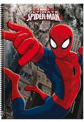 Block A4 80 Feuilles Spiderman Dark
