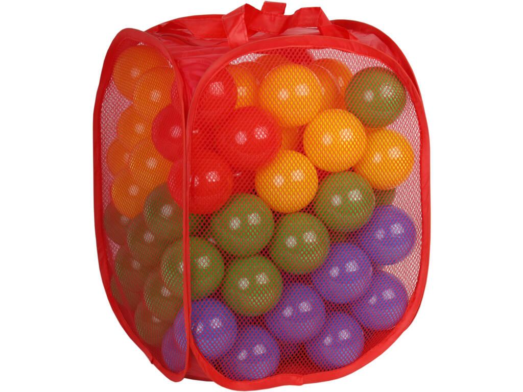 Bolsa de Tela Con 100 Bolas 7cm de Colores
