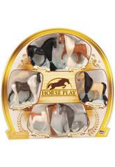 Set 6 Cavalli criniere lunghe con pettine