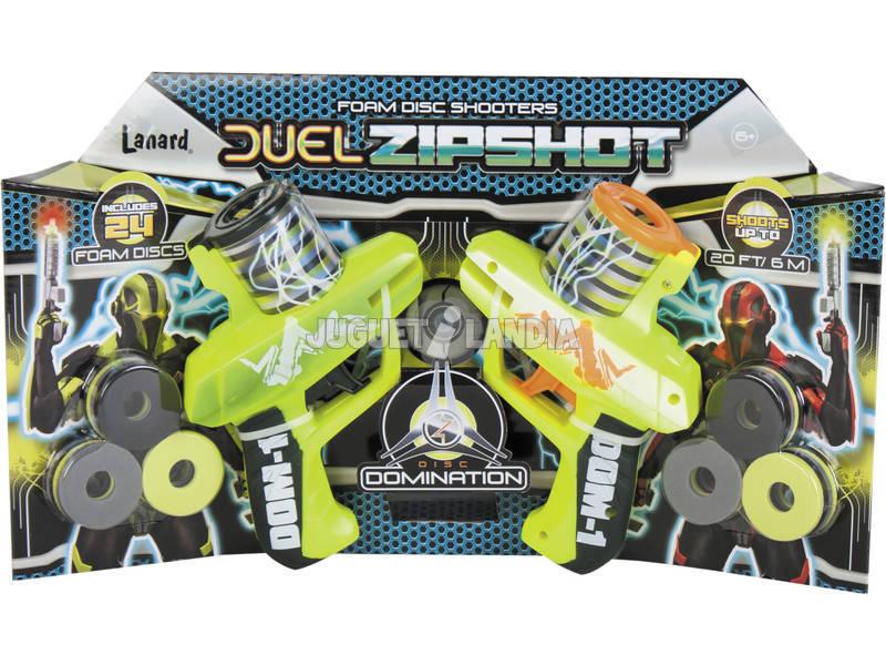 Set duas Pistolas Lança - discos Foam Zipshot