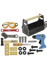 Une boîte à outils de 22 pièces avec perceuse