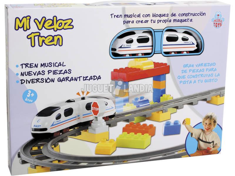 O Meu Veloz Comboio Musical com 63 Blocos de Construção