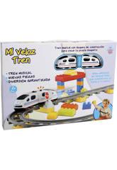 Mi Veloz Tren Musical con 63 bloques de Construcio