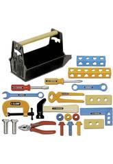 Caise à outils avec 22 pièces et marteau