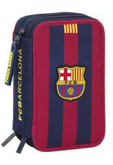 Plumier Triple 41 piezas F.C. Barcelona