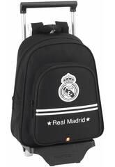 Mochila Infantil con Ruedas Real Madrid Black