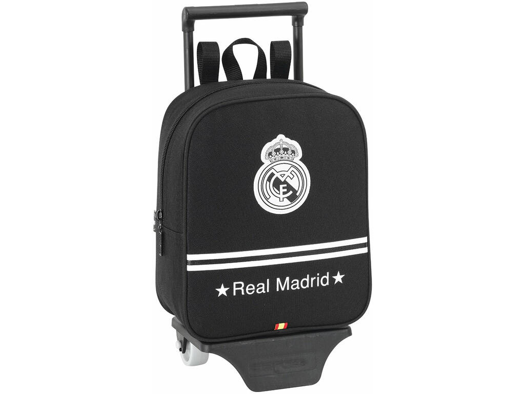 Mochila Guarderia con Ruedas Real Madrid Black