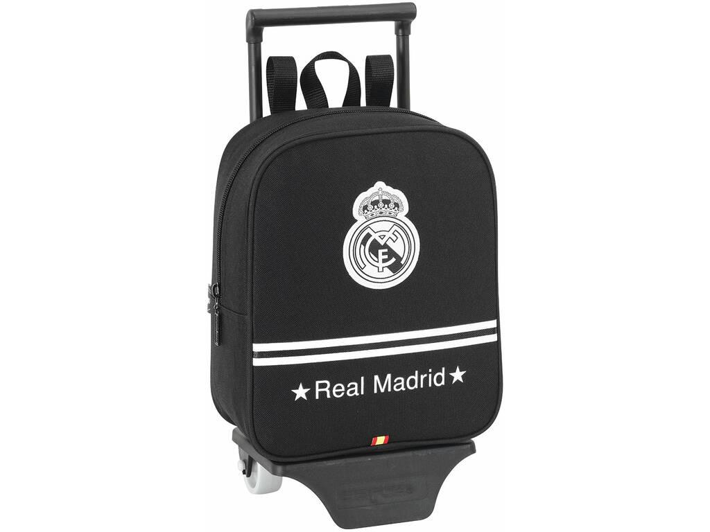 Mochila Infantário com Rodas Real Madrid Black