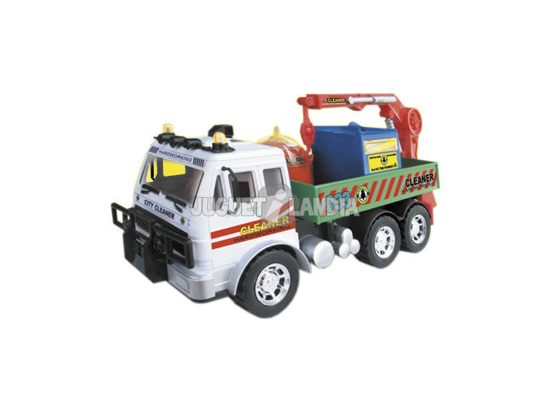 Camião 1:14 Coleta Contentores Reciclagem
